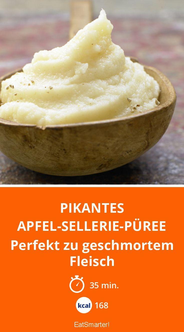 Pikantes Apfel-Sellerie-Püree - Perfekt zu geschmortem Fleisch - smarter - Kalorien: 168 Kcal - Zeit: 35 Min. | eatsmarter.de