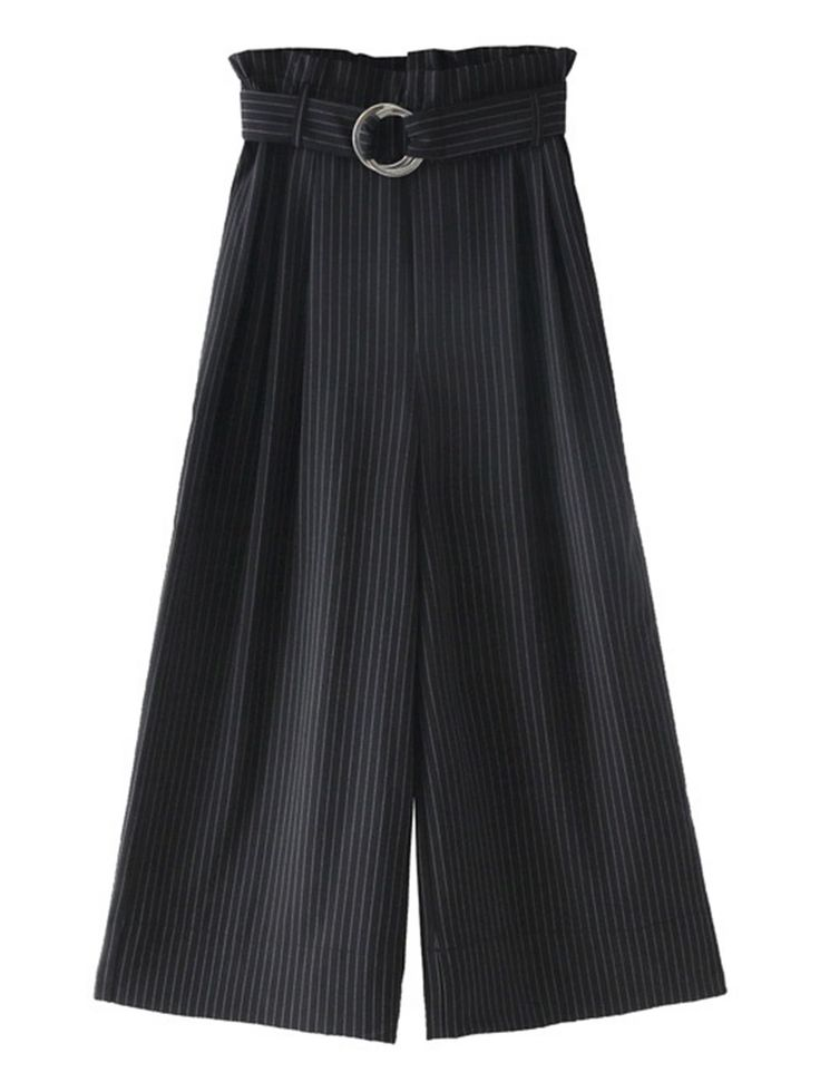 Shop Double Ring Belt Striped Palazzo Pants online. SheIn offers Double Ring Belt Striped Palazzo Pants & more to fit your fashionable needs.
