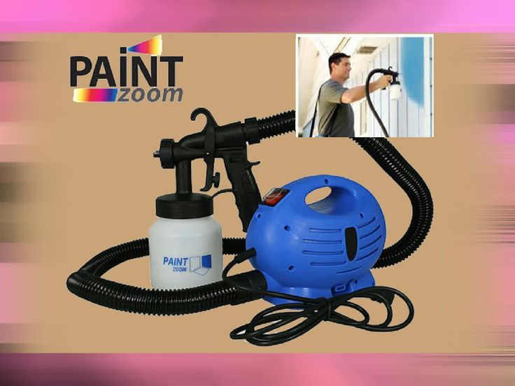 Paint zoom  Paint like a pro with the Paint Zoom™ paint sprayer and say goodbye to rollers, brushes and the mess of paint trays while getting the best coverage quickly and easily.