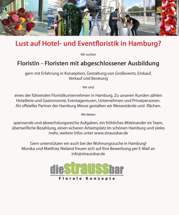 Great Floristin Florist Stellenangebot im wunder sch nen Hamburg wir bieten Eventfloristik