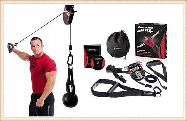 En iyi fiyat CrossCore180 Spor Direnç Gruplar Antreman çekin Halat Dönme vücut ağırlığı Trainer Açık Fitness Aletleri