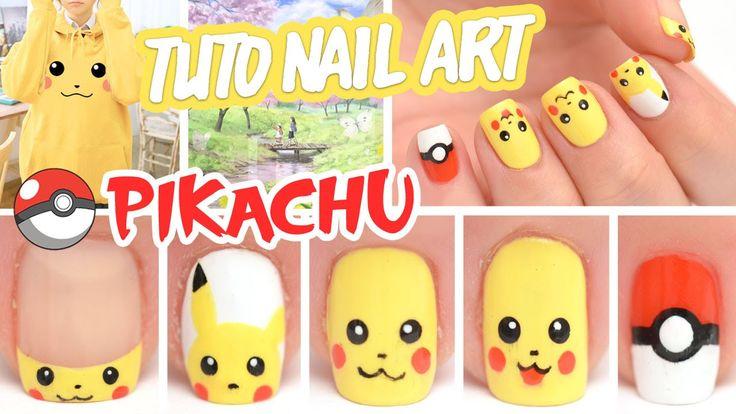Nouvelle vidéo avec l'adorable petit Pikachu ♡ ↓↓ Plus d'infos ↓↓ Vernis - Base et Top Coat Skin food (dispo sur ma boutique…