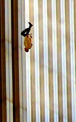 """September 11 Jumpers   The Falling Man, """" 9/11/01, ap photo by Richard Drew, via Esquire"""