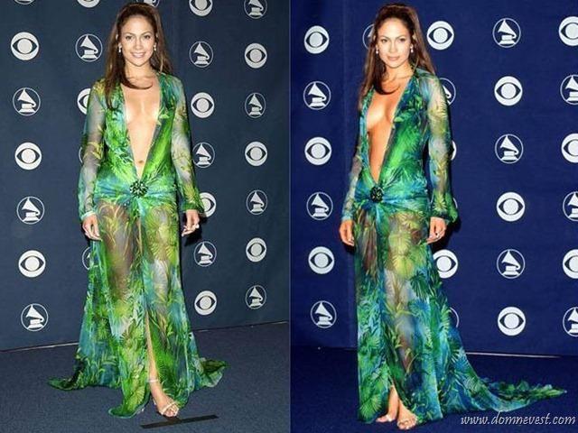 Дженифер лопез в платье от versace 2000 церемония grammy