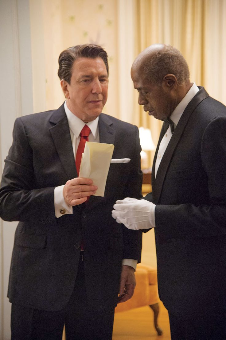 """Alan Rickman and Forest Whitaker in 2013s """"Lee Daniel's The Butler."""""""