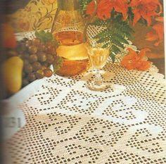 tafelloper zelf haken, patroon, haakpatroon, tafelkleed