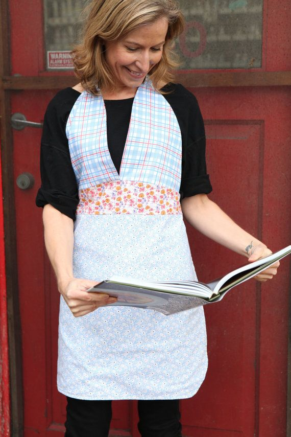 Friday Night Apron  20's inspired prints floral by QuiltsbyNona, $27.00