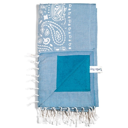 "Paisley ""Azur"" Turtle Bay Kikoy Towel"