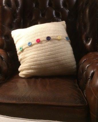 Granny Square Cushion Cover Back