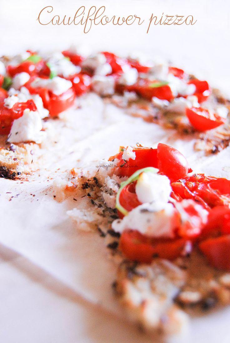 Cauliflower Pizza 2° versione vegan