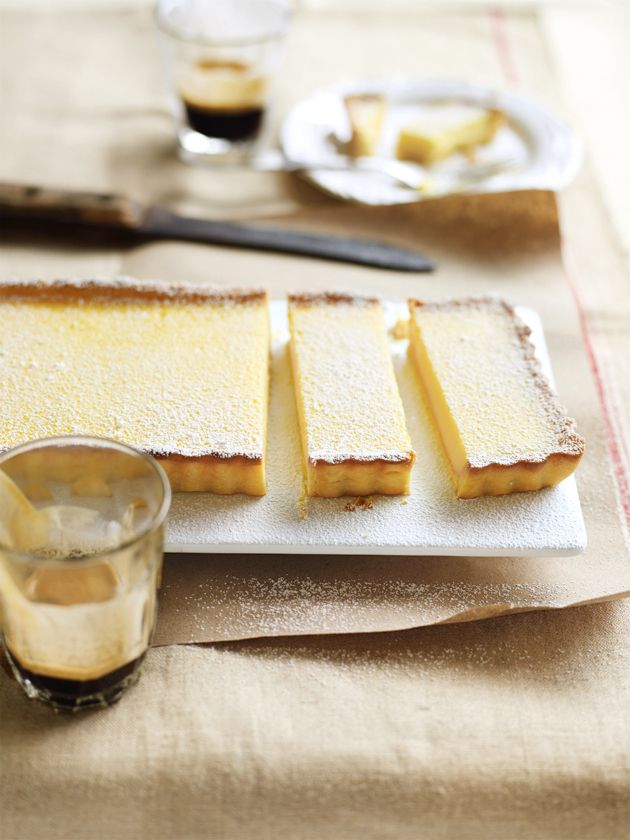 lemon tart - spread some homemade mascarpone on top once it's cooled and a layer of fresh blueberries (or your favourite fresh berries)