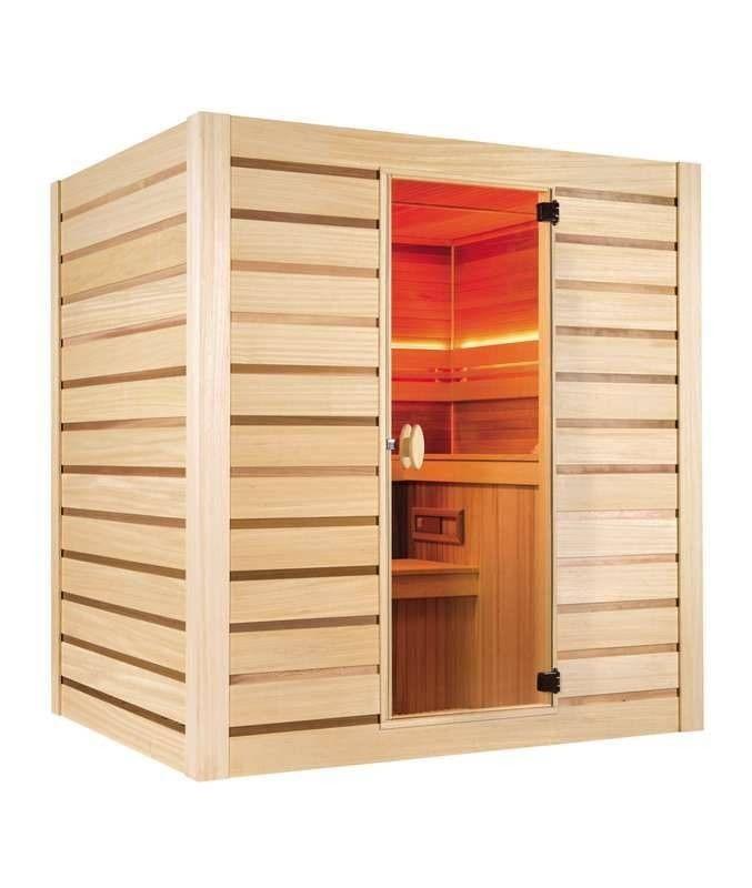 Sauna finlandese Holl's Eccolo a basso consumo energetico per 6 persone 200 x 175 cm