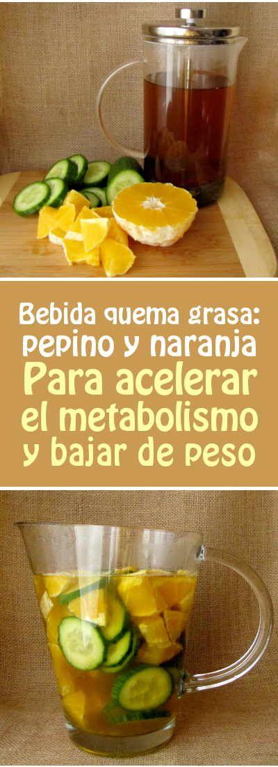 Bebida quema grasa: pepino y naranja. Para acelerar el metabolismo y bajar de peso