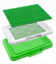 Puppy Potty Grass Mat Dog Trainer Indoor Pee Pad Training Patch Pink Blue Green