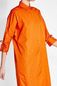 Хлопковое платье с кружевом-деталь   Макс Мара