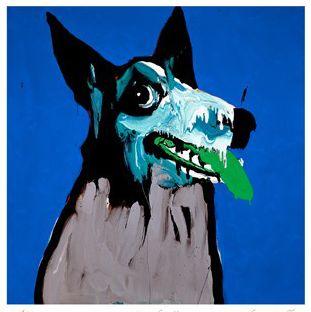 Print Decor - Art, Mirrors, Frames - Growler, Blue by Adam Cullen, $1,295.00 (http://www.printdecor.com.au/art-and-images/growler-blue-by-adam-cullen/)