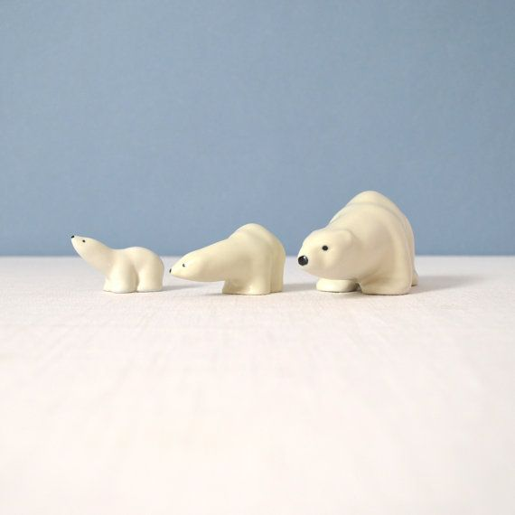 Arabia Finland Porcelain Polar Bear Trio