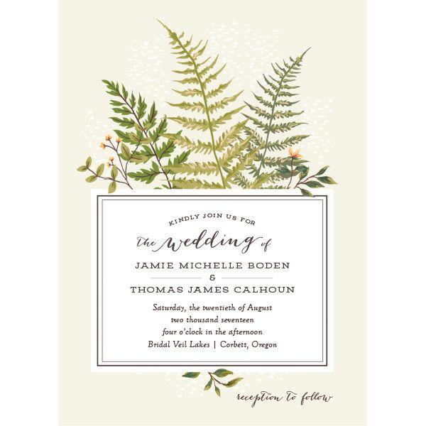 Fern Botanical Wedding Invitations by Emily Crawford | Elli