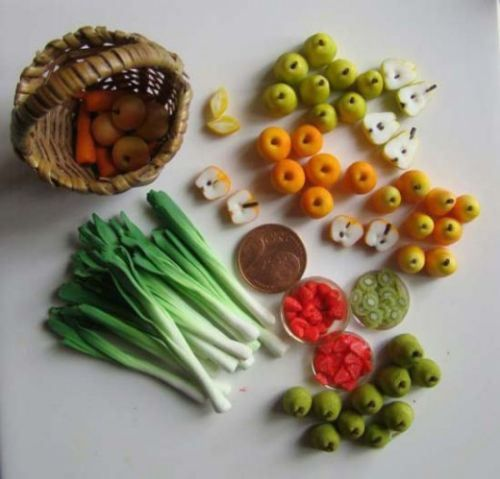 How to make miniature foods.