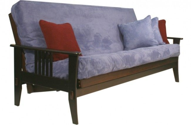 Traditional Wood Futon Sofa Sleeper | Marin Wood Futon Frame Java | The Futon Shop