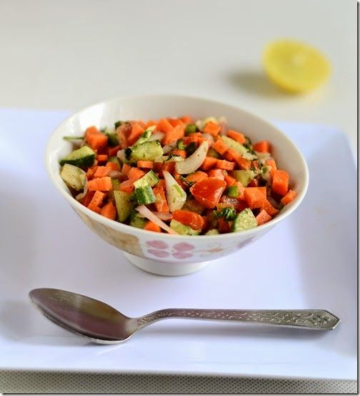 Chitra's Food Book: EASY INDIAN VEGETABLE SALAD RECIPE-SALAD RECIPES