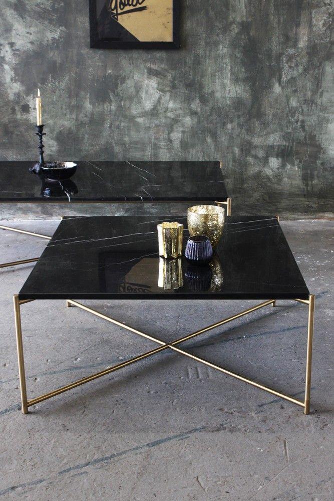 Carrara Marble Coffee Table Black Marble New