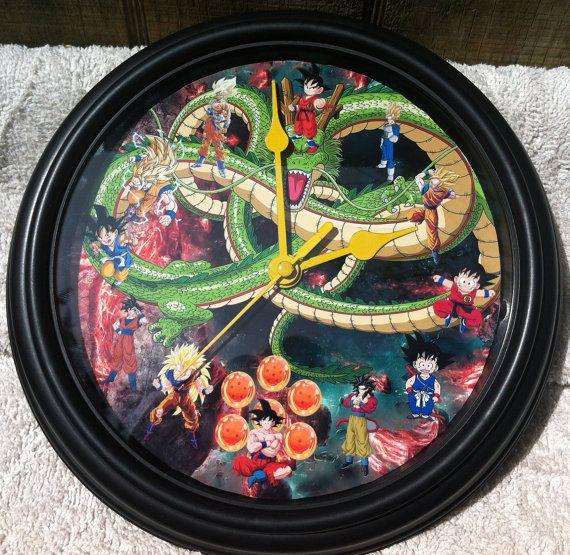 9 Inch Dragonball Z Clock Goku by zuzusforall on Etsy, $12.00