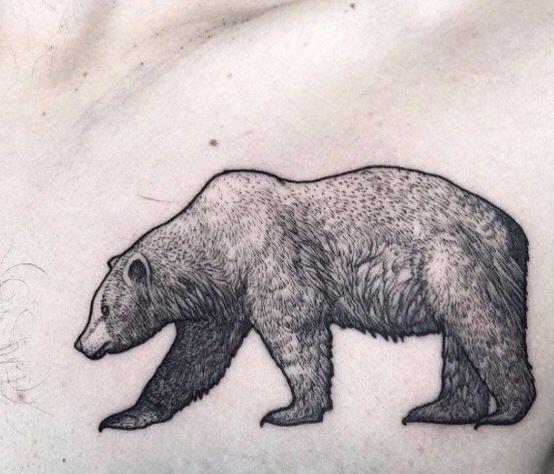 dotwork bear tattoo tattoo ideas pinterest bear tattoos tattoo and native tattoos. Black Bedroom Furniture Sets. Home Design Ideas