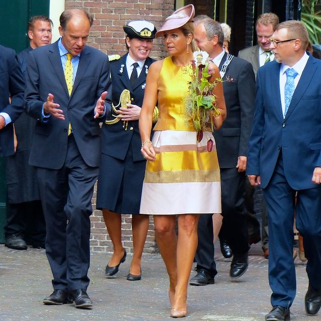 Queen Maxima at the opening of the renovated tropical greenhouse complex in the Hortus Botanicus Leiden 4 September 2013