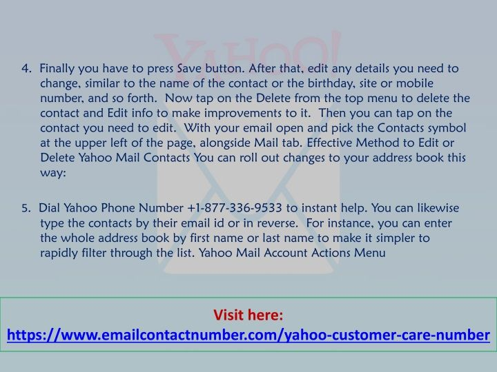 How Do i Add New Contacts of Yahoo Mail | Yahoo Mail Support
