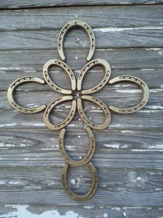 Small Butterfly Horseshoe Cross