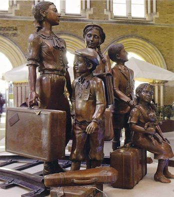 Phineas Harper This is the Kindertransport memorial in London Liverpool Street station which I pass every day on my way to work. It was made to thank the British people for their heroic and selfless efforts organising safe passage and long term homes for young people fleeing war and persecution in 1938. Together our grandparents and their parents saved the lives of over 10,000 refugees by doing everything in their power to facilitate the rescue of those children when their world was…