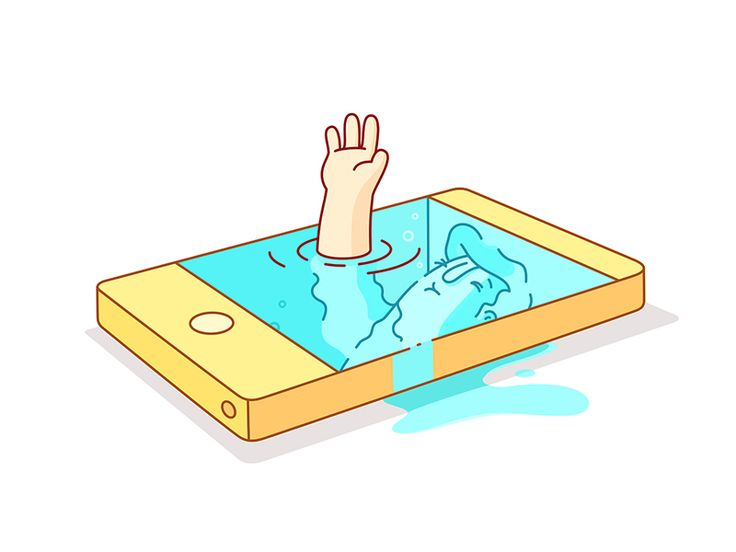 Dribbble - iDrown by Burnt Toast Creative