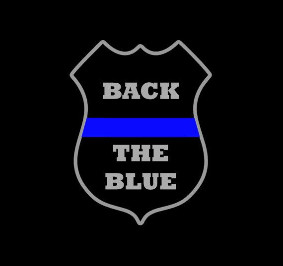 Back the Blue Blue Lives Matter Decal Police by MonogramsByLisa