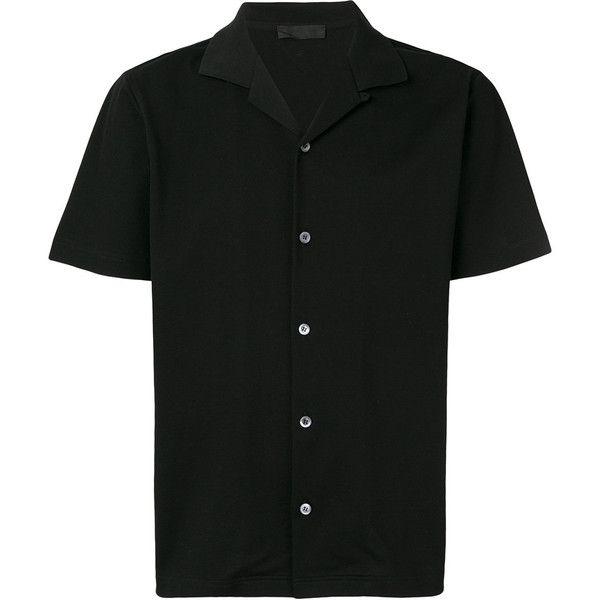 8e2d4950 Prada open collar bowling shirt (12,865 THB) ❤ liked on Polyvore ...
