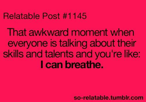 I can breathe!
