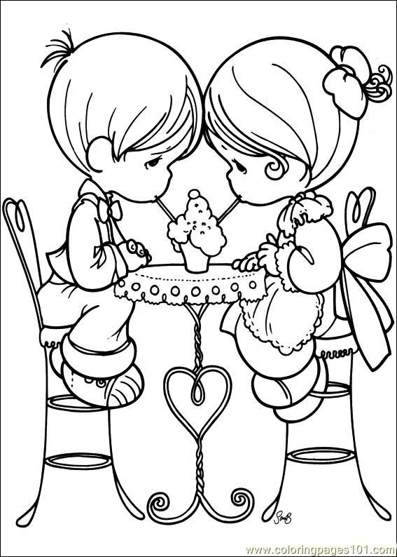 loving couple precious moments coloring pages