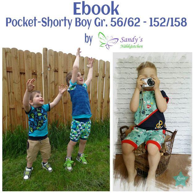 """Die """"Pocket-Shorty Boy"""", ein Must Have für den Sommer, ob mit oder ohne Hosentasche, aus Jersey, Stretchjeans oder Sweat, ein echter Hingucker für den Sommer. Ohne Hosentasche ist sie fix genäht..."""