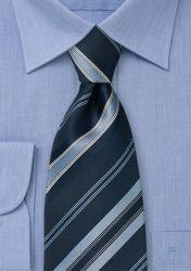 XXL-Krawatte blau gestreift günstig kaufen