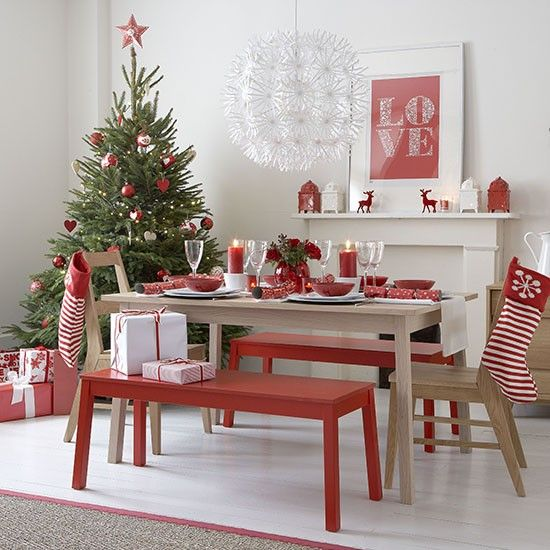 Kitchen Table Decorations For Christmas: 17 Best Ideas About Christmas Dining Rooms On Pinterest