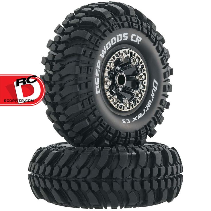 Deep Woods CR C3 Compound Mounted 2.2″ Crawler Tires on Black Chrome Wheels