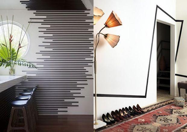 Reciclar e Decorar : decoração com ideias fáceis: Decorando paredes com fita isolante