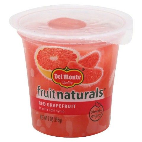 Del Monte Fruit Naturals Red Grapefruit in 100% Juice Fruit Cup 7 oz