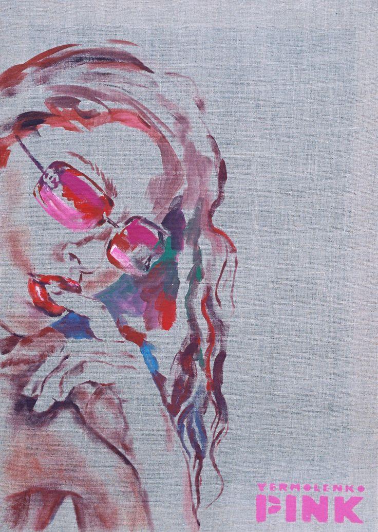 "Yury Ermolenko, ""HOT STUFF"",(""PINK"" series), 2007, acrylic on not primed canvas, 80x55cm. #YuryErmolenko #еrmolenko #ЮрийЕрмоленко #ермоленко #yuryermolenko #юрийермоленко  #юрiйєрмоленко #ЮрiйЄрмоленко  #rapanstudio #acrylicpainting #ErmolenkoYury #acrylic #портрет #picture #canvas #portrait #art #creative #fineart #visualart #artcontemporary #contemporaryart #modernart #PINK  #texture #canvastexture #color #colorful #painting #glamorous #lovely #cute #sexy #sex #hot #sensual #stuff…"