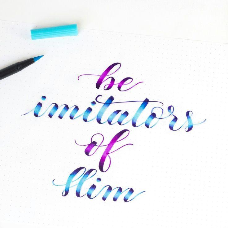 Be imitators of Him- Ephesians 5:1-2 | Tombow brush pens