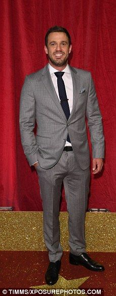Jamie Lomas (Hollyoaks and formerly Eastenders' star) at the British Soap Awards 2016 | Daily Mail Online