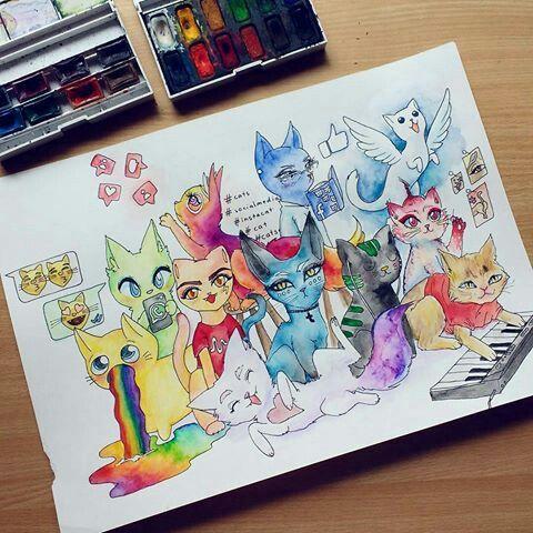 Social media cats!!