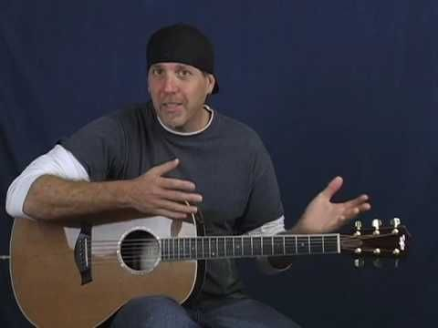 Acoustic intermediate advanced guitar lesson tap harmonics slapping strum fingerstyle