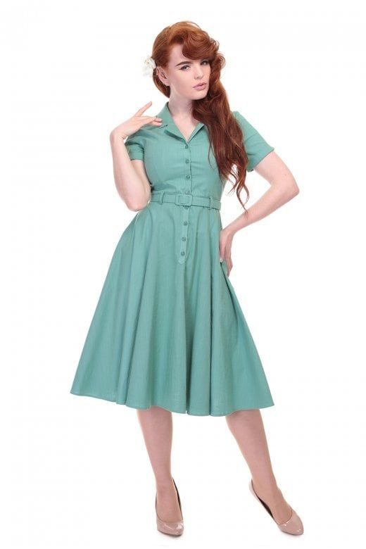 02925309c2e Collectif Vintage Caterina Plain Swing Dress - Collectif Vintage from  Collectif UK