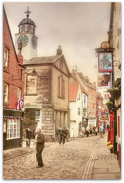 Whitby ~ a town in North Yorkshire  home port of Captain Cook